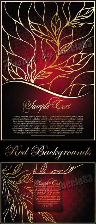 Red Vintage Backgrounds Vector