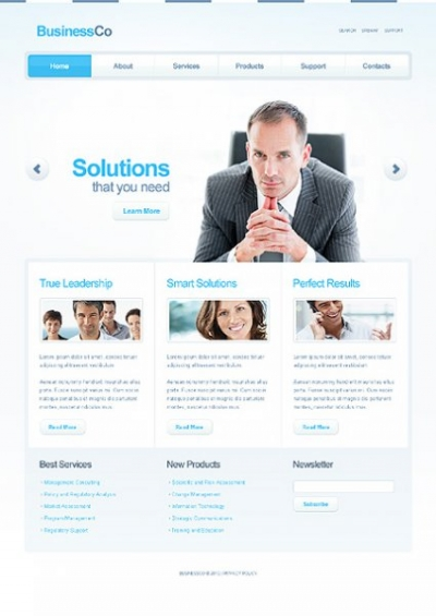 Business Company Free Website Template