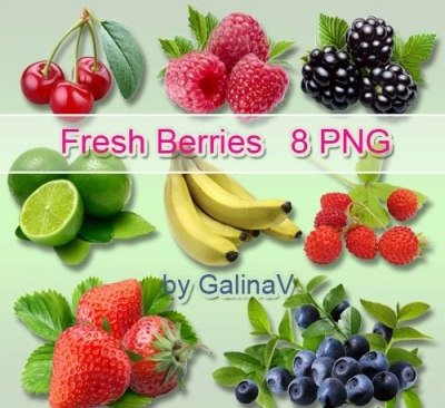 Ягоды и Фрукты/Berries and Fruit PNG