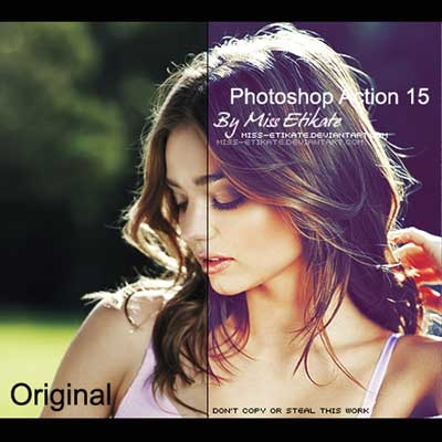 Photoshop Action 15 by Miss Etikate